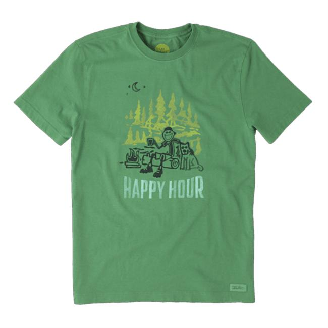 Men's Crusher Short Sleeve Tee Happy Hour Camp Watercolor